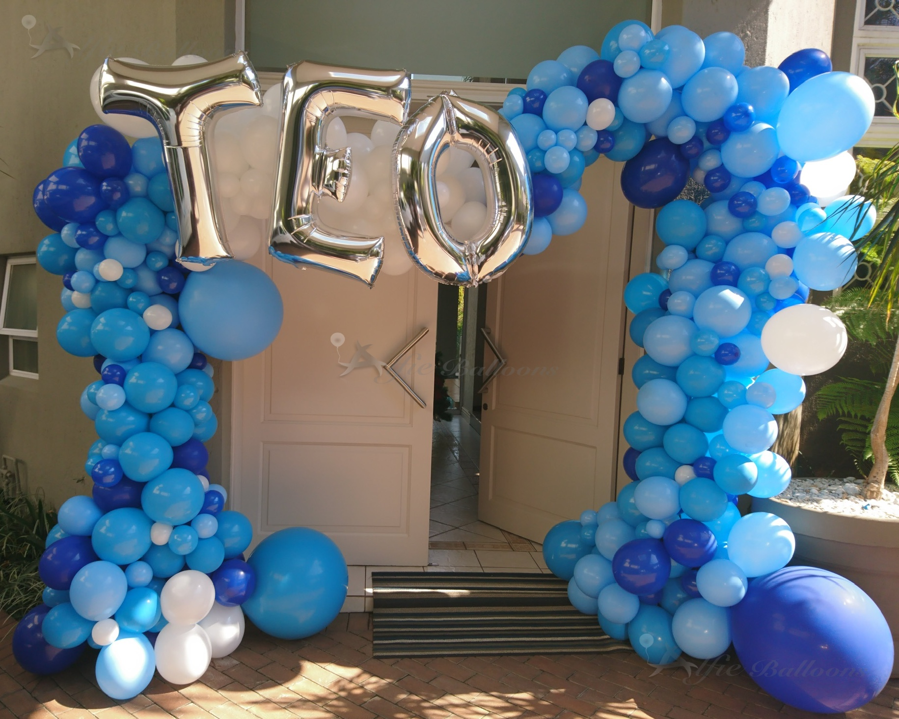 Welcome Baby Teo Organic Balloon Arch